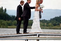 Svatba na vodní ploše Matylda v Mostě.