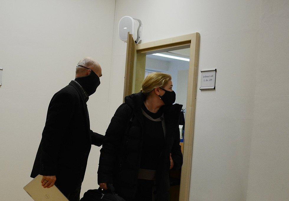 Markéta Lehká na Okresním soudu v Mostě ve čtvrtek 28. ledna.