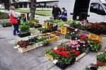 V Radničním parku v Mostě se konal 1. května od 8 do 12 hodin první sobotní Pěstitelský trh.