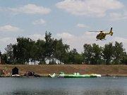 Záchranáři zasahují na nádrži Benedikt