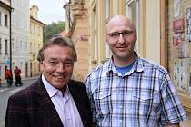 Karel Gott a Jan Kubů z Litvínova