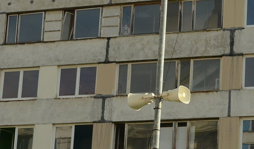 Sídliště Janov v pátek 13. listopadu.