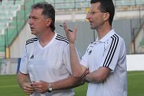 Trenérský tandem FK Baník Most Stanislav Hofmann a Michal Zach.