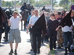 Loňský průvod pravicových radikálů a jejich příznivců v Litvínově.