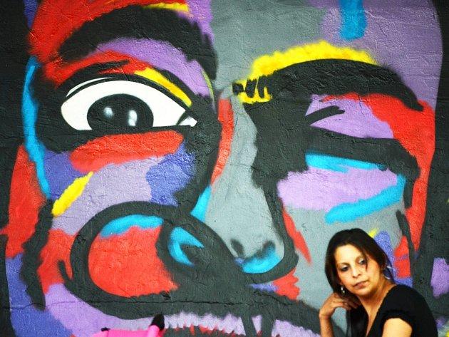 Graffiti u Stovky v Mostě.