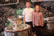 Slavný tenisový Davisův pohár v Mostě.