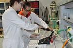 Laboratoř chemie na Gymnáziu T. G. Masaryka v Litvínově