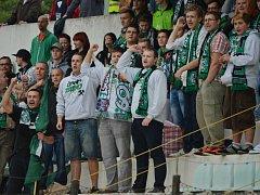 Fanoušci Mostu během zápasu s Kolínem skandovali: Raszyk, ven!