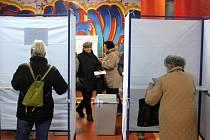 Prezidentské volby na soukromé sportovní základní škole v Litvínově.