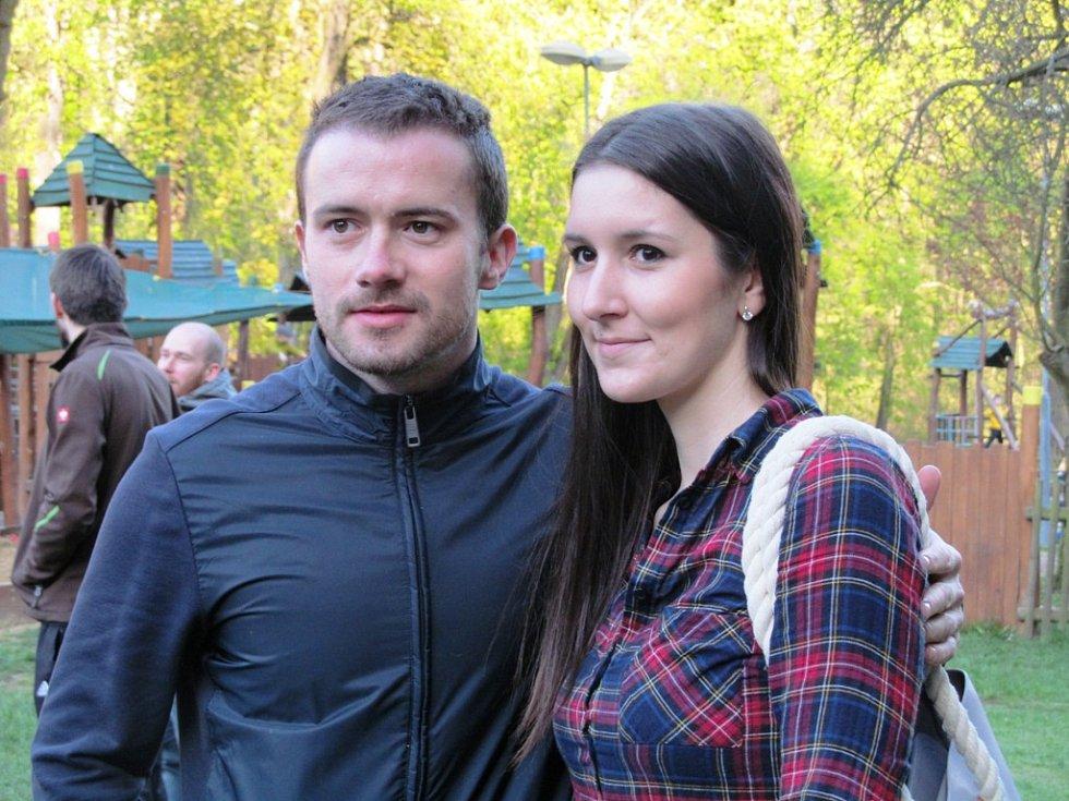 Fanynka má společné foto s Jakubem Petružálkem.