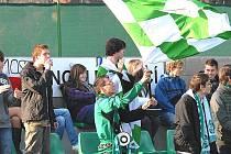 Skalní příznivci druholigového fotbalového klubu FK Baník Most.