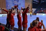 Češky hrály s Tureckem v mostecké sportovní hale.