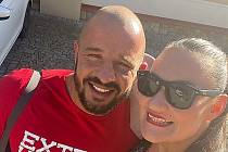 Petr Pastýřík s přítelkyní Renátou.