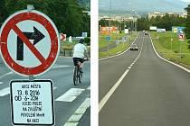Dopravní značky už upozorňují řidiče na omezení v Mostě, uzavře se několik ulic kvůli sobotním akcím v centru města.