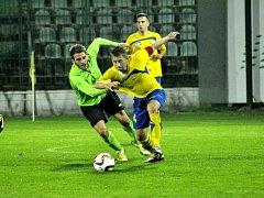Most (v zeleném) hrál se Zlínem 0:0.