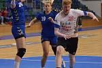 Házenkářky české reprezentace se v mostecké hale v rámci soustředění utkali v modelovém zápase s dorostenci Lovosic.