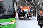 Lyžařský areál v Klínech hlásí, že se lyžuje.