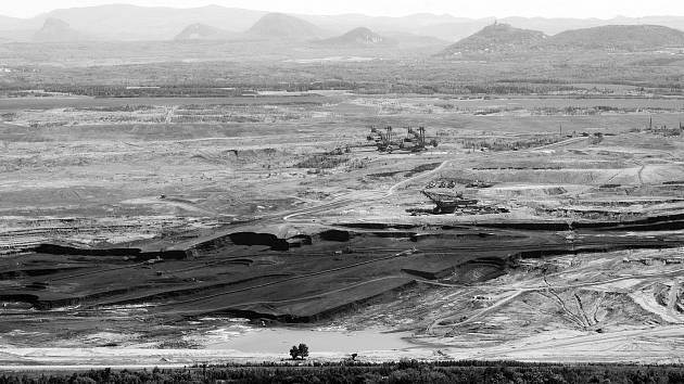 Těžba uhlí v dole ČSA.