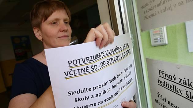Uzavření školy kvůli koronaviru. Ilustrační foto