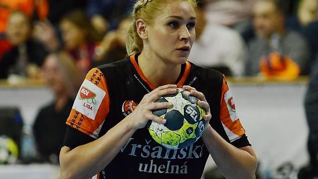 V minulé sezoně střílela Simona Szarková góly za DHK Baník Most.