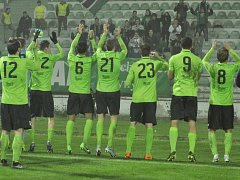 Zápas druhé ligy mezi domácím Mostem a hosty z Varnsdorfu.