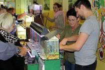 Středisko volného času v Mostě v sobotu opět hostilo oblíbené a hojně navštěvované Akvarijní trhy.