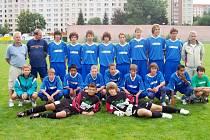 Vítězný tým starších žáku FK SIAD Most.