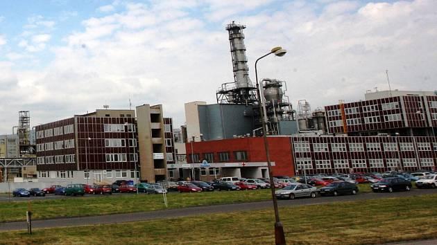 Část areálu Unipetrolu v Záluží u Litvínova
