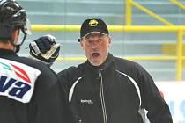 Čtvrteční trénink HC Verva Litvínov. V pátek hokejisté hrají večer ve francouzském Grenoble.