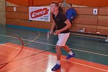 Badmintonista Tomáš Pospíšil.
