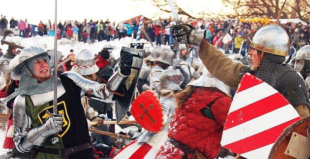 Zimní velká bitva vPodbořanech.
