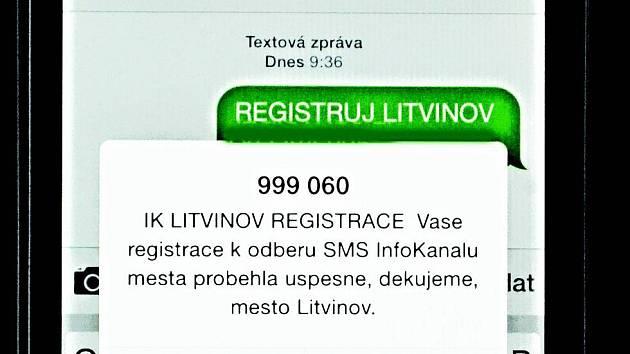 Takovou zprávu občan získá po zaregistrování se do SMS systému Litvínova.
