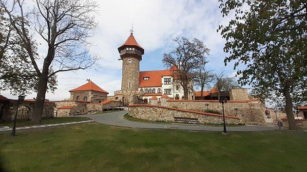 Hrad Hněvín vMostě vpátek 30.dubna.