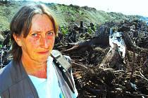 Oldřiška Heislerová nechce, aby těžaři zničili přírodu i její domov.