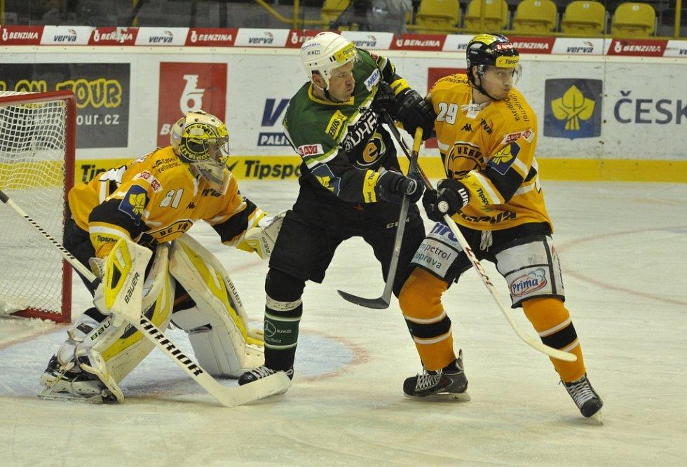 Extraligový hokej Litvínov versus Karlovy Vary.