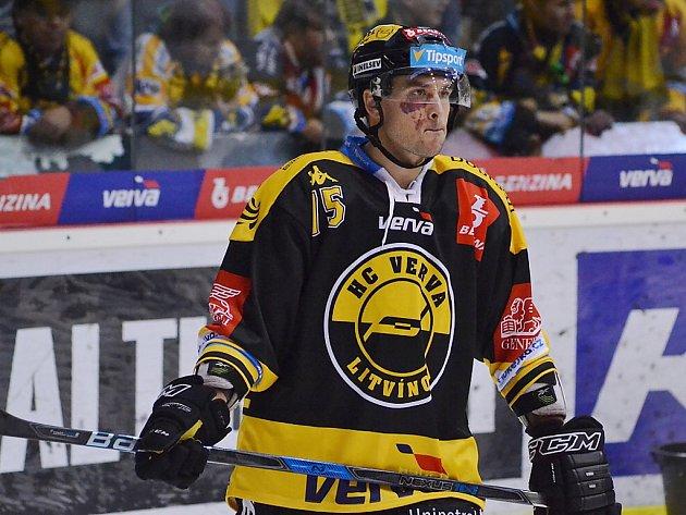 Brian Ihnačák v litvínovském dresu.