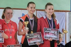 Kristina Kozempelová (uprostřed) byla úspěšná na turnaji v Aši.