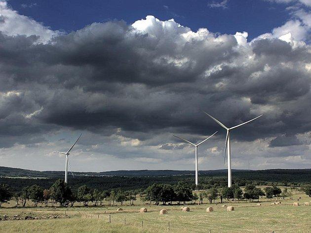 Větrné elektrárny v Nové Vsi v Horách.