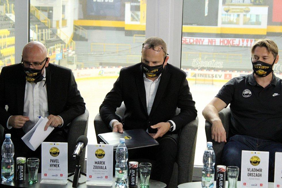 Tisková konference HC Verva Litvínov před startem nového extraligového ročníku.