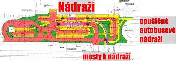 Plán pro úpravu ploch unádraží vMostě.
