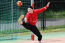 Kateřina Ebrlová byla vyhlášena jako nejlepší brankářka turnaje v Plzni.