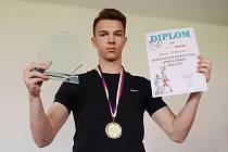 Úspěšný mostecký boxer Dominik Štěpánek.