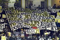 Litvínovští fanoušci podporují svůj tým.