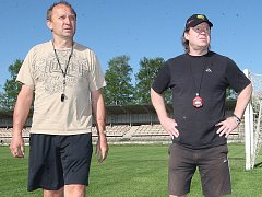 Trenéři Vervy Vladimír Jeřábek a Petr Rosol.