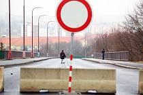 Most u mostecké nemocnice je zavřený od ledna.