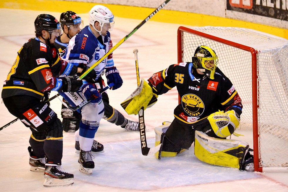 Litvínov ve druhém zápase s Brnem slavil v prodloužení 2:1.