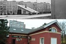 VČERA A DNES. Z bývalé klubovny (nahoře) vznikla vyhlášená hospoda, která oslavila 20 let od otevření.