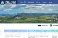 Část hlavní strany webu města Most