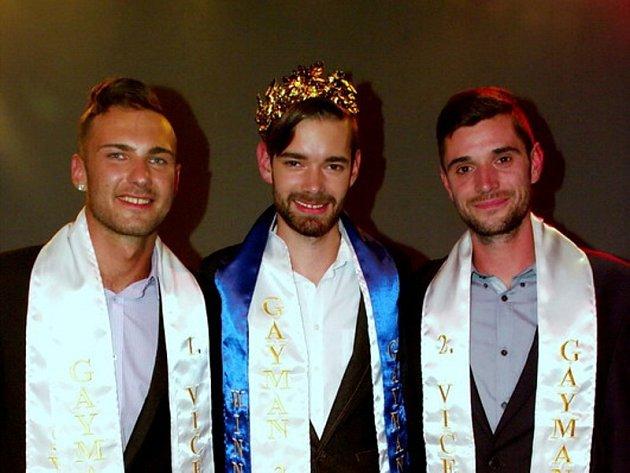 (zleva) První vicegayman Ladislav Ágh, vítěz letošního ročníku Marek Gajdoš a druhý vicegayman Michal Bogdan.
