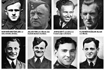 Piloti z knihy Občané Mostecka v řadách RAF za II. světové války.